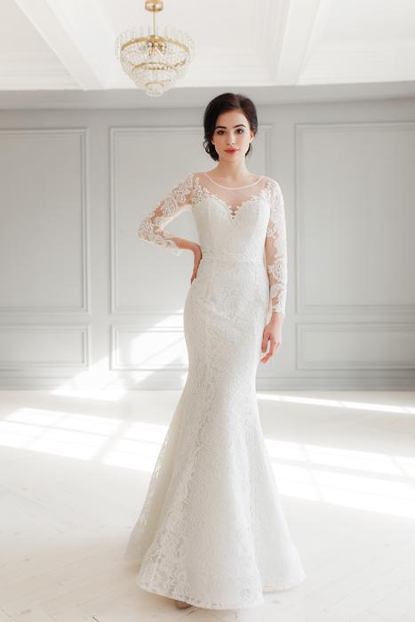 Braut mit Meerjungfrau Brautkleid