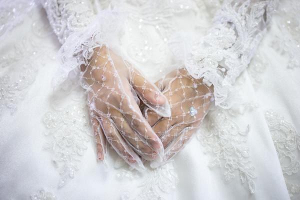 Brauthandschuhe für Standesamt Brautkleid im Winter